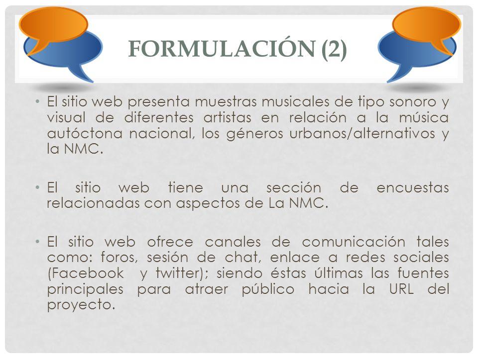 FORMULACIÓN (2)