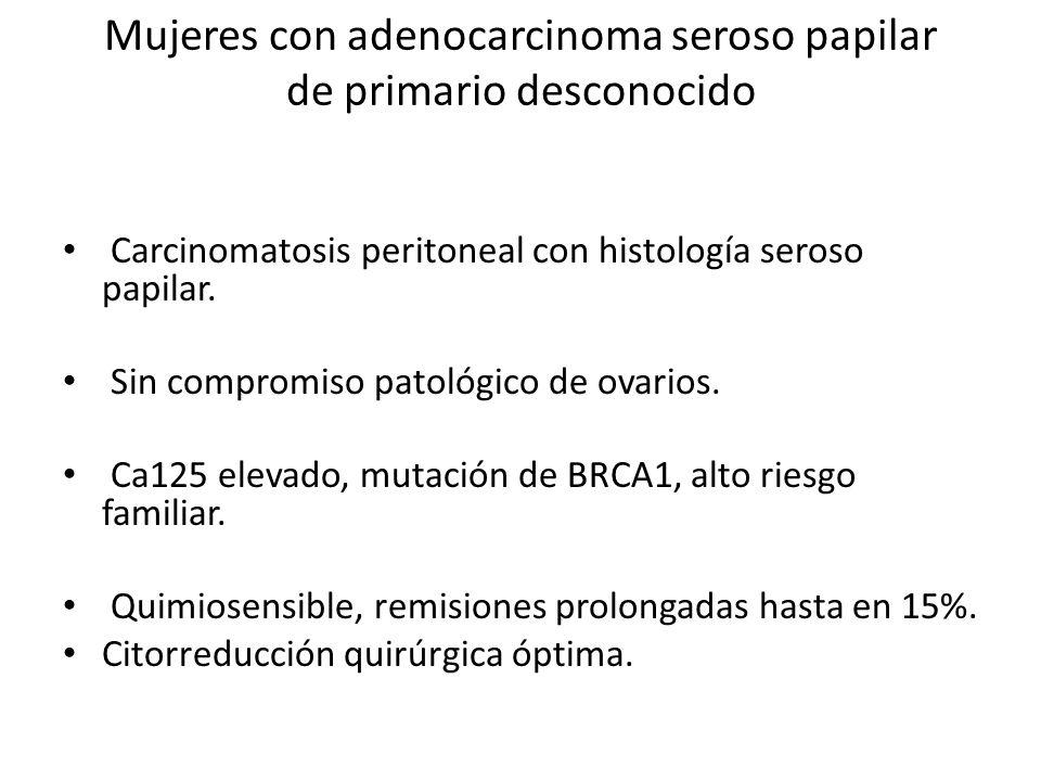 Mujeres con adenocarcinoma seroso papilar de primario desconocido