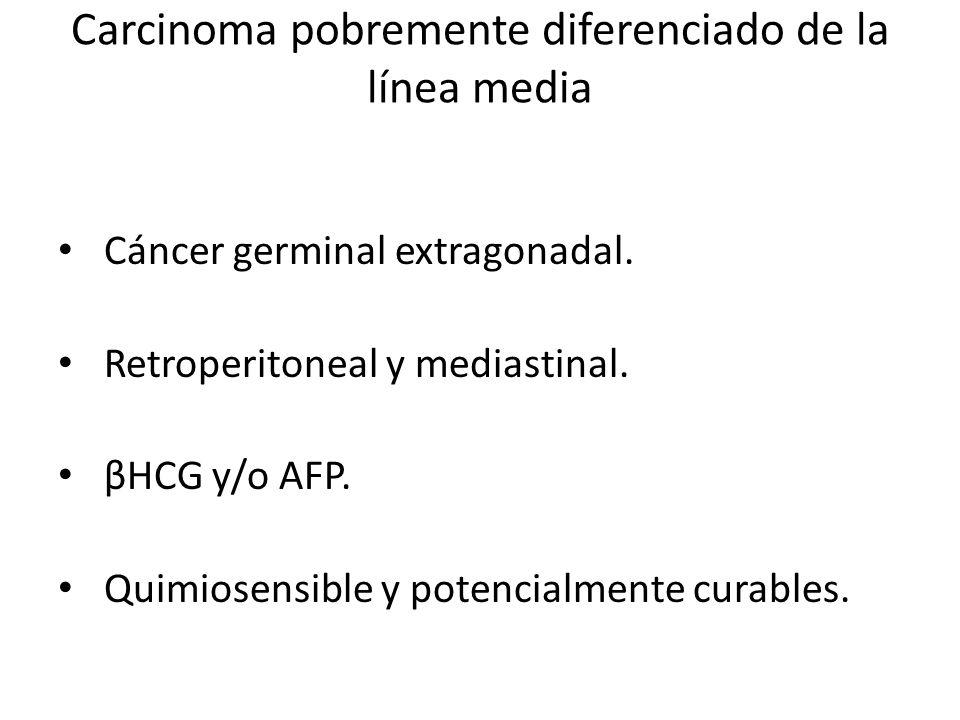Carcinoma pobremente diferenciado de la línea media