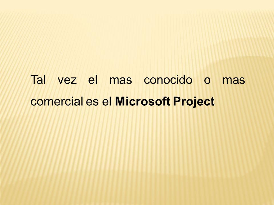 Tal vez el mas conocido o mas comercial es el Microsoft Project