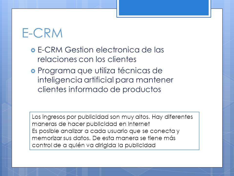 E-CRM E-CRM Gestion electronica de las relaciones con los clientes