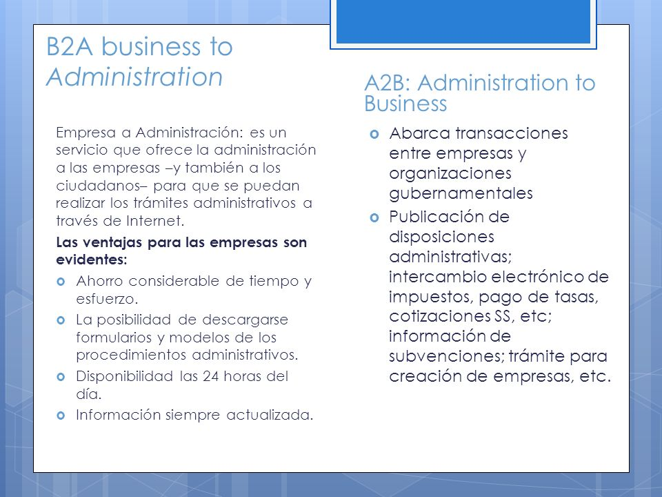 B2A business to Administration