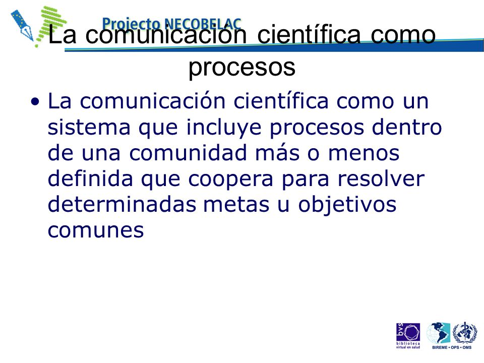 La comunicación científica como procesos
