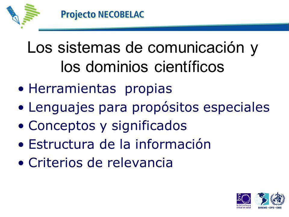 Los sistemas de comunicación y los dominios científicos