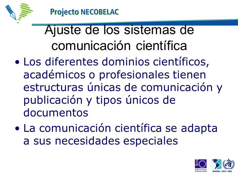 Ajuste de los sistemas de comunicación científica