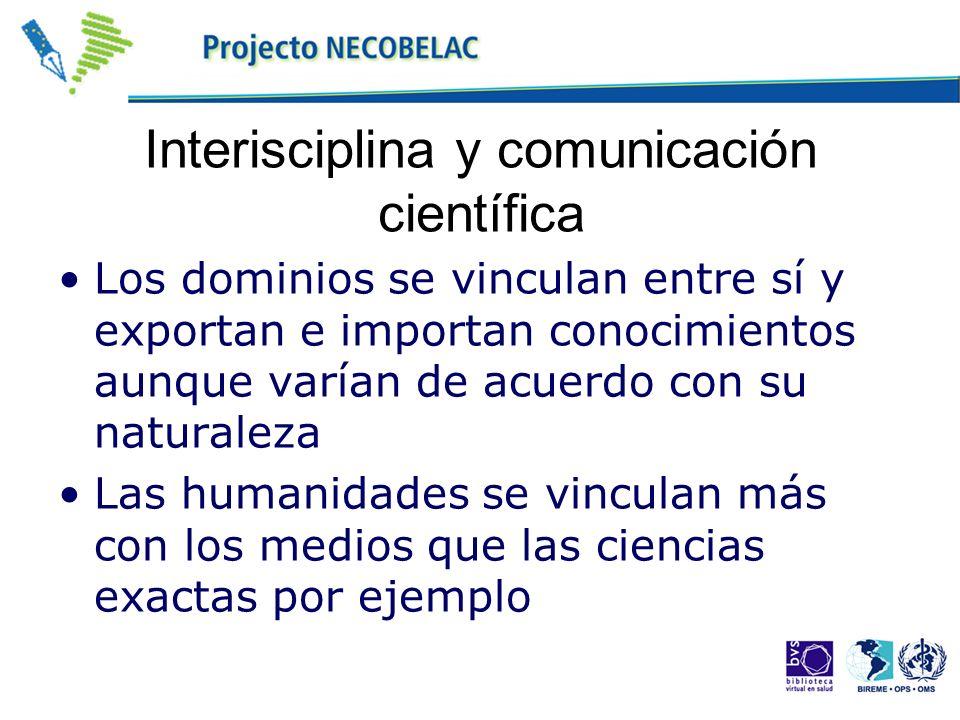 Interisciplina y comunicación científica