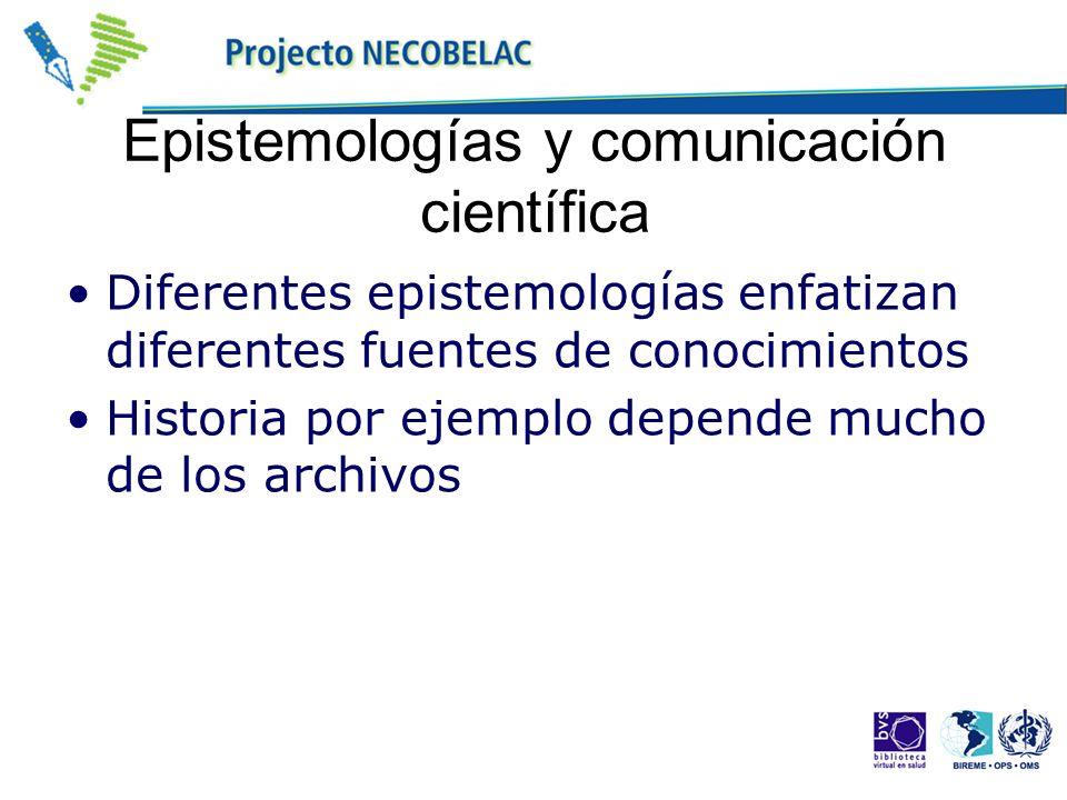 Epistemologías y comunicación científica