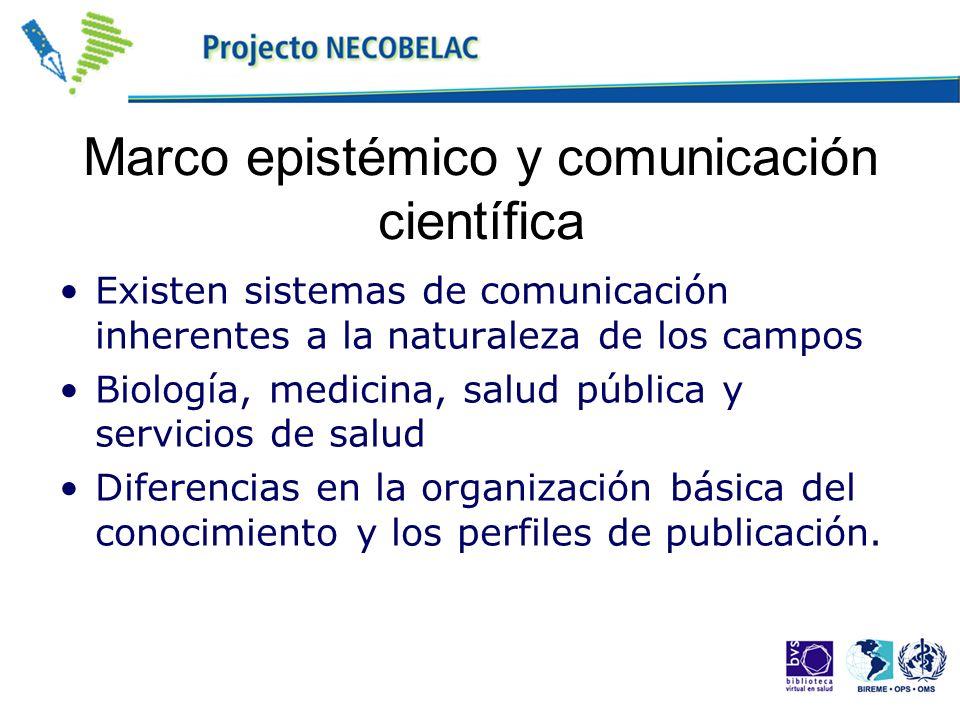 Marco epistémico y comunicación científica