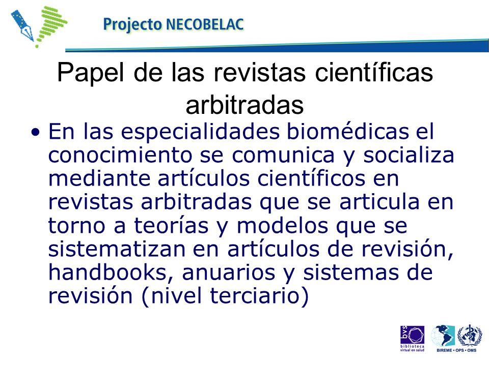 Papel de las revistas científicas arbitradas