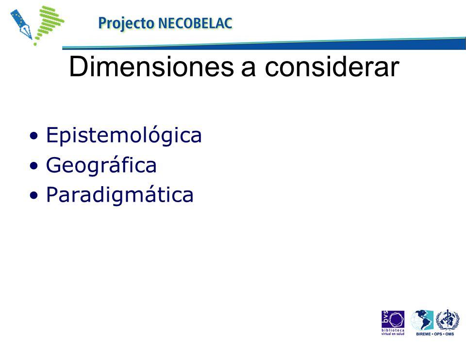 Dimensiones a considerar