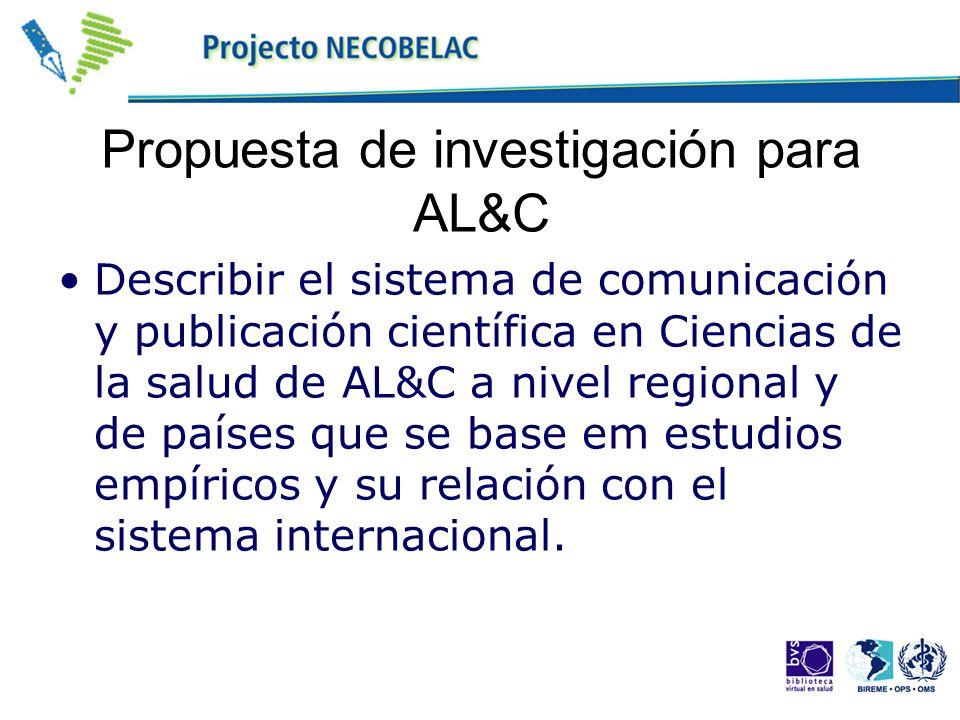 Propuesta de investigación para AL&C