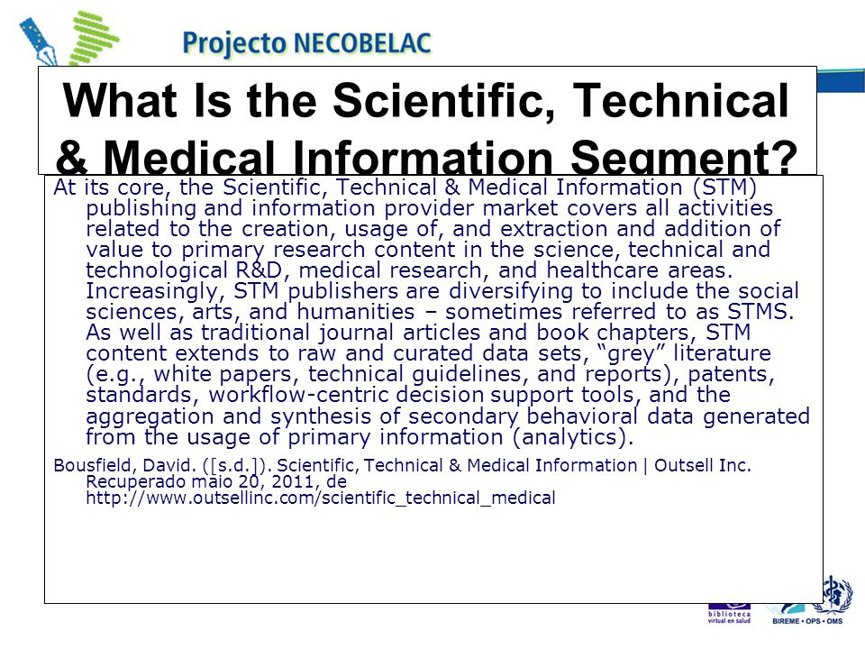 What Is the Scientific, Technical & Medical Information Segment