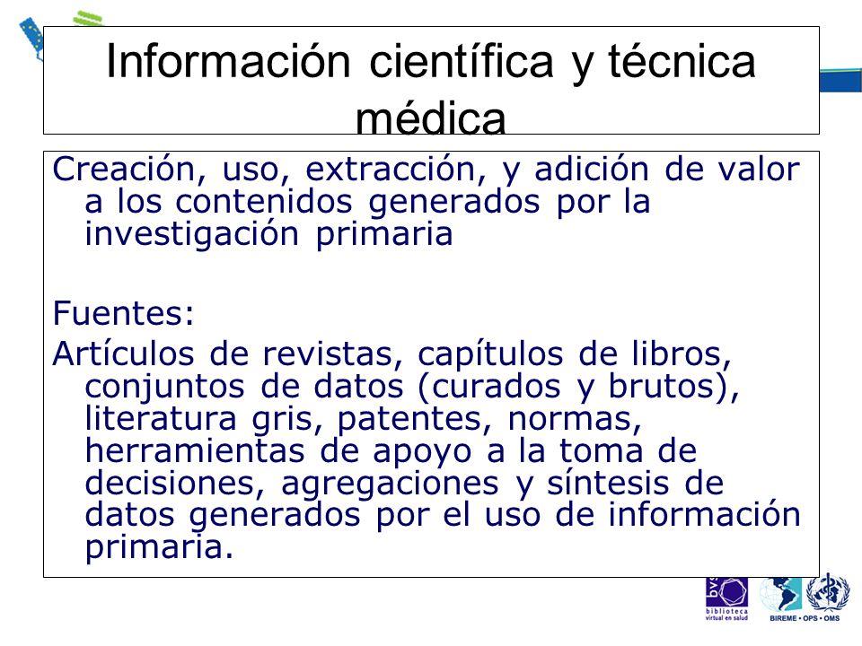Información científica y técnica médica