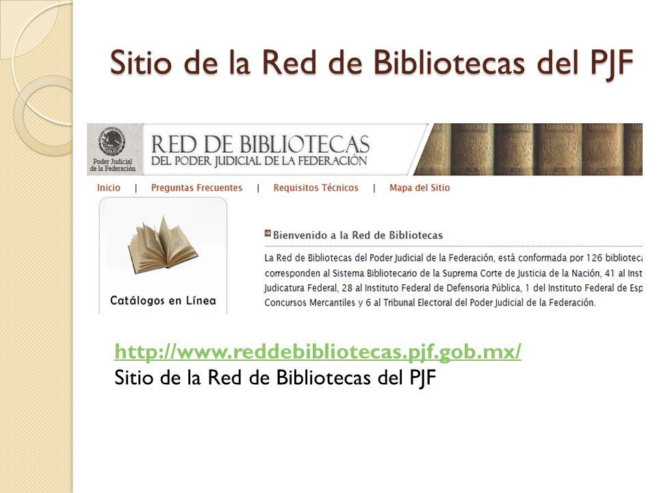 Sitio de la Red de Bibliotecas del PJF