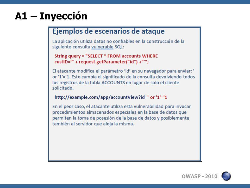A1 – Inyección 7