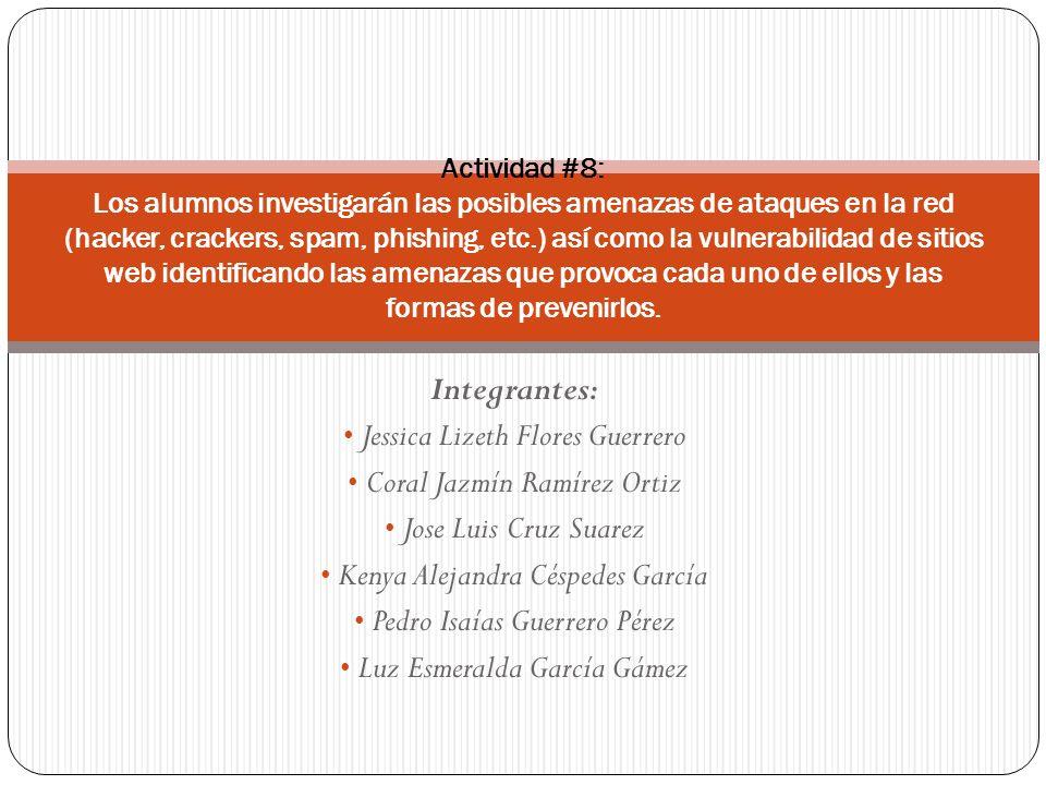 Jessica Lizeth Flores Guerrero Coral Jazmín Ramírez Ortiz