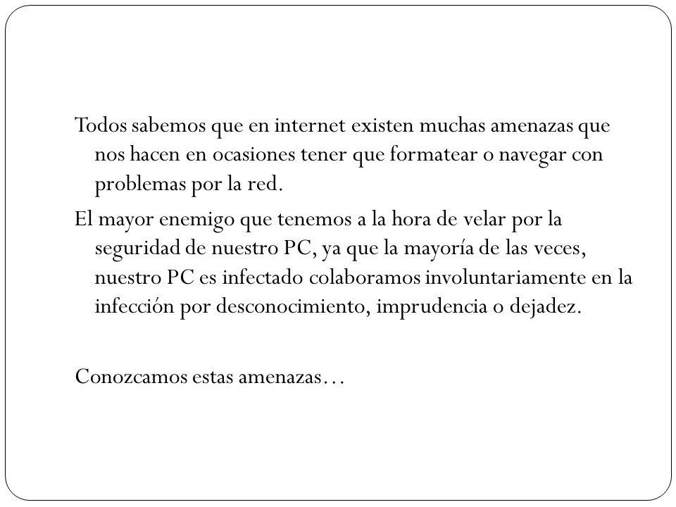 Todos sabemos que en internet existen muchas amenazas que nos hacen en ocasiones tener que formatear o navegar con problemas por la red.
