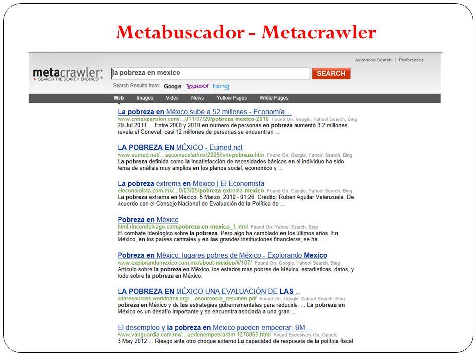 Metabuscador - Metacrawler