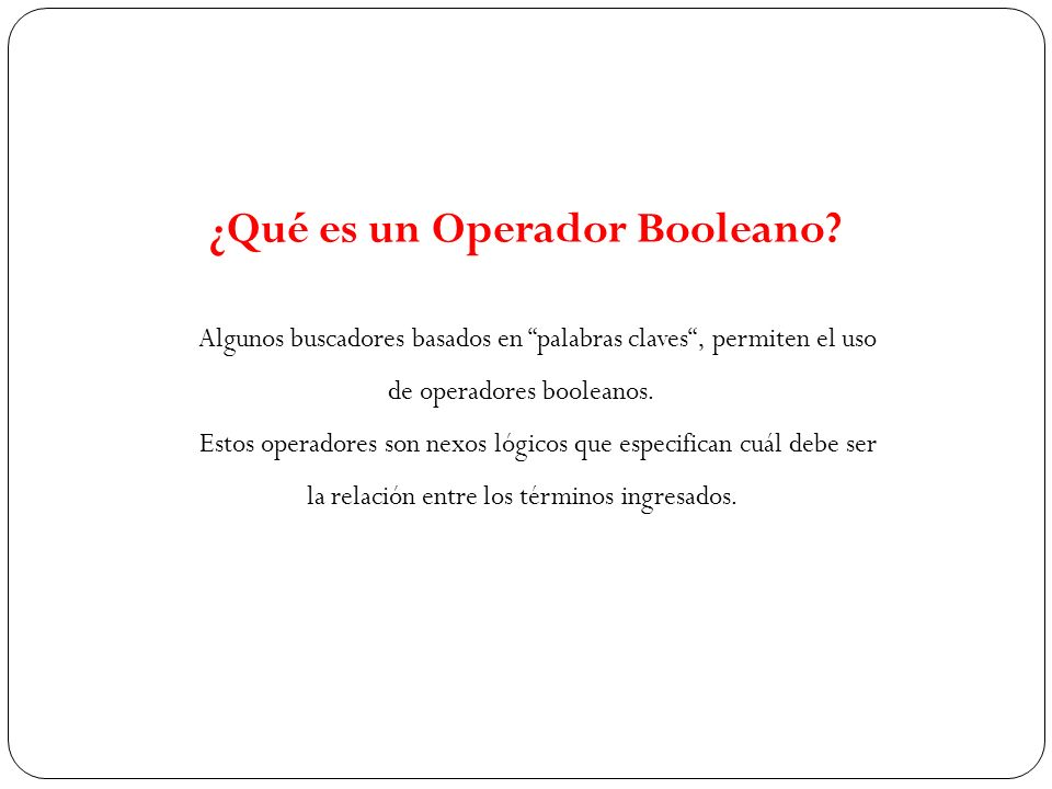 ¿Qué es un Operador Booleano