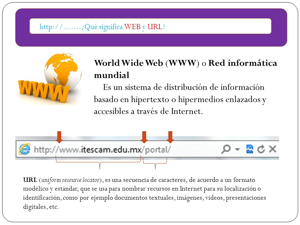 World Wide Web (WWW) o Red informática mundial