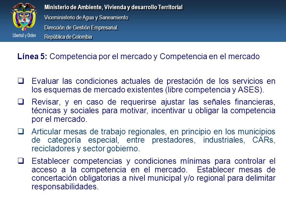 Línea 5: Competencia por el mercado y Competencia en el mercado