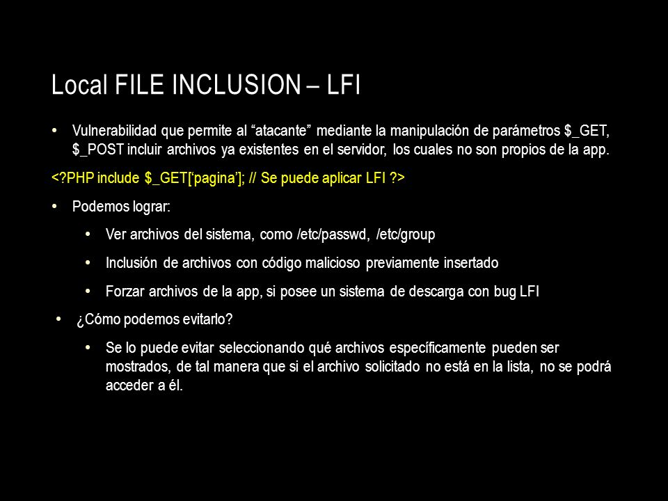 Local File Inclusion – LFI