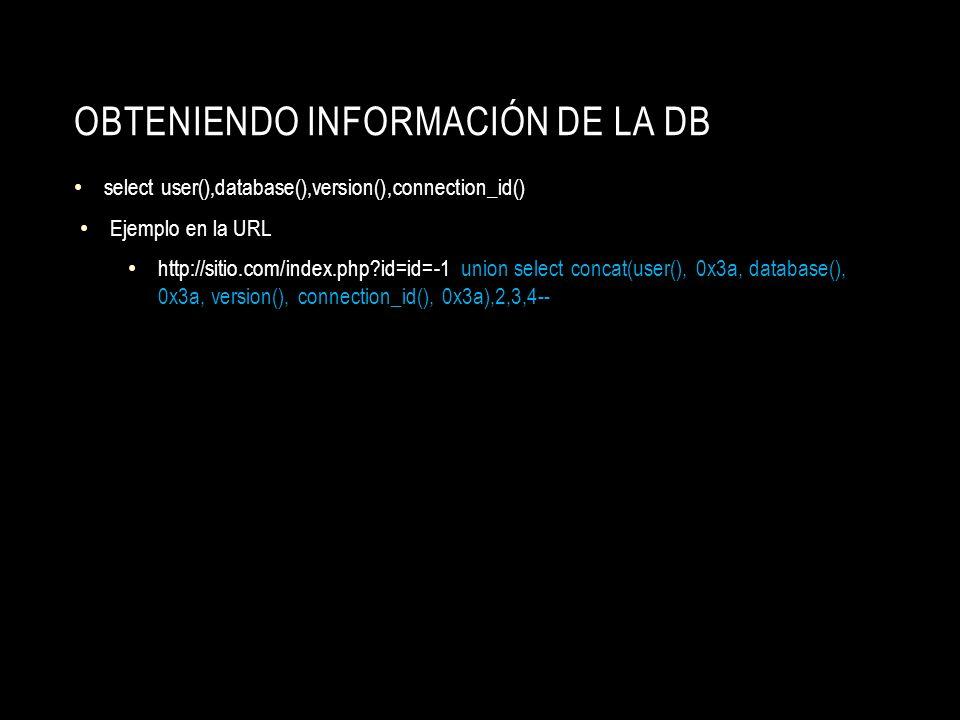 Obteniendo Información de la db