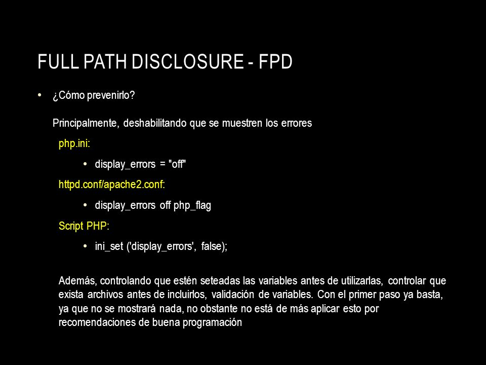 Full Path Disclosure - FPD