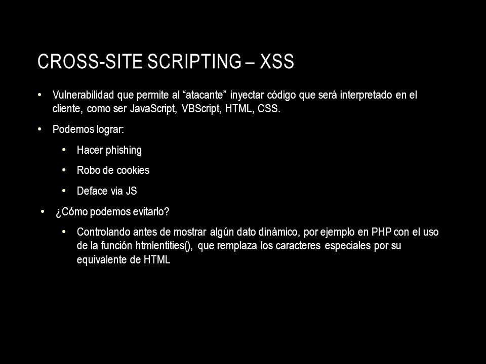 Cross-site Scripting – XSS