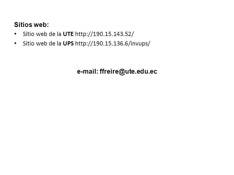 e-mail: ffreire@ute.edu.ec