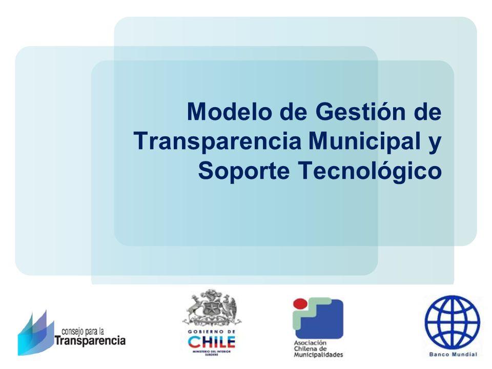 Modelo de Gestión de Transparencia Municipal y Soporte Tecnológico
