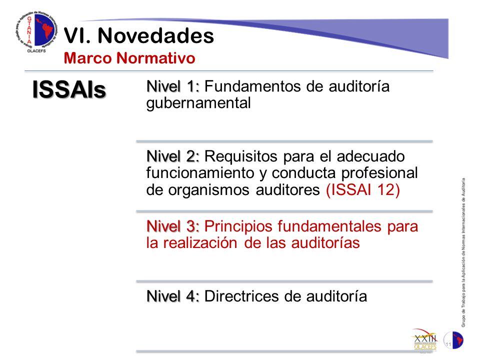 VI. Novedades Marco Normativo