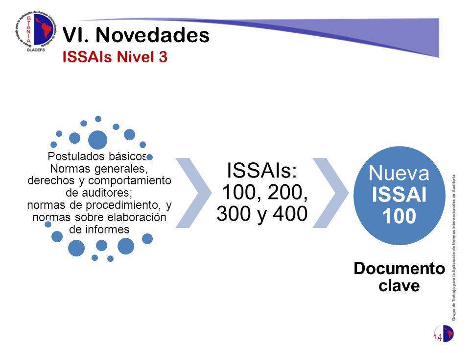 VI. Novedades ISSAIs Nivel 3