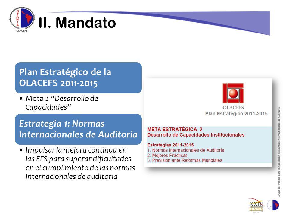 II. Mandato Plan Estratégico de la OLACEFS 2011-2015