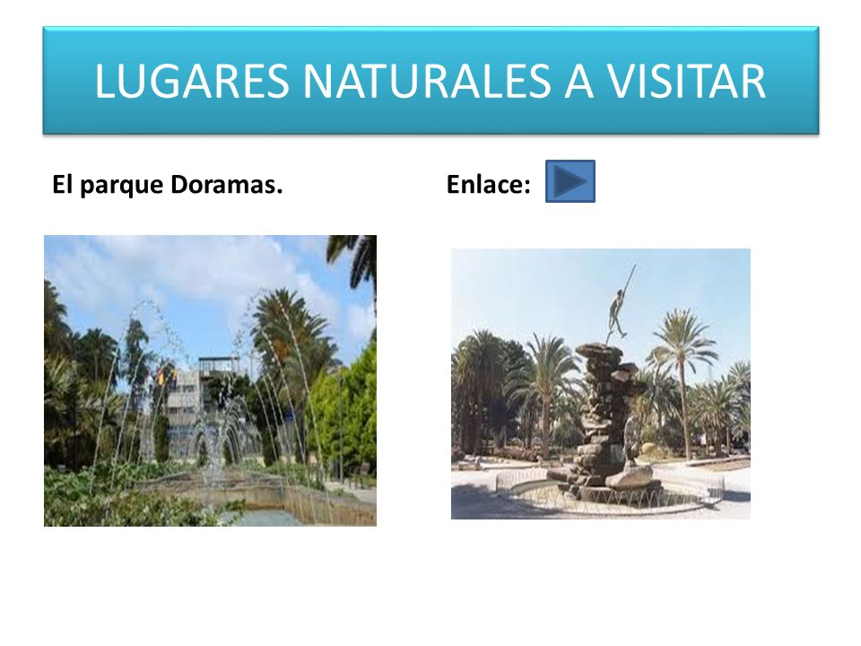 LUGARES NATURALES A VISITAR