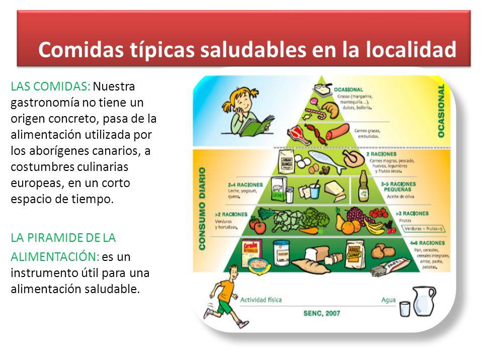 Comidas típicas saludables en la localidad
