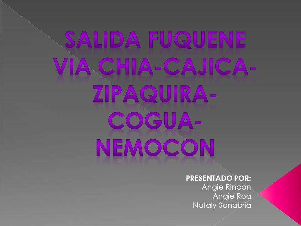 VIA CHIA-CAJICA-ZIPAQUIRA-COGUA-NEMOCON