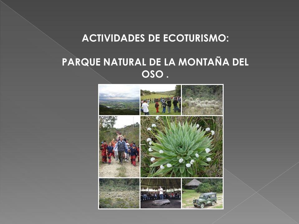 ACTIVIDADES DE ECOTURISMO: PARQUE NATURAL DE LA MONTAÑA DEL OSO .