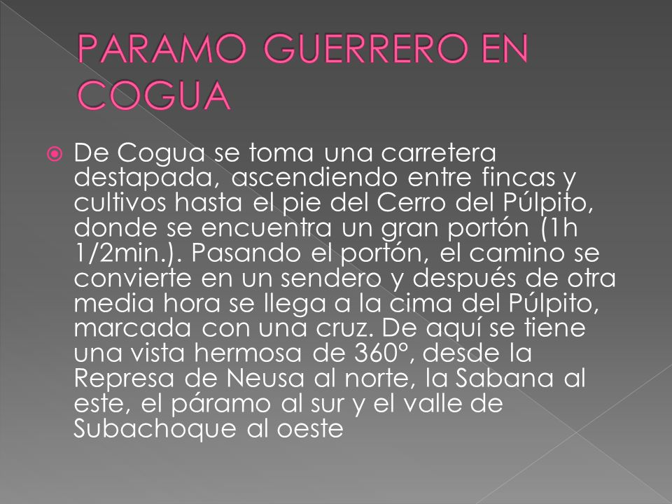 PARAMO GUERRERO EN COGUA