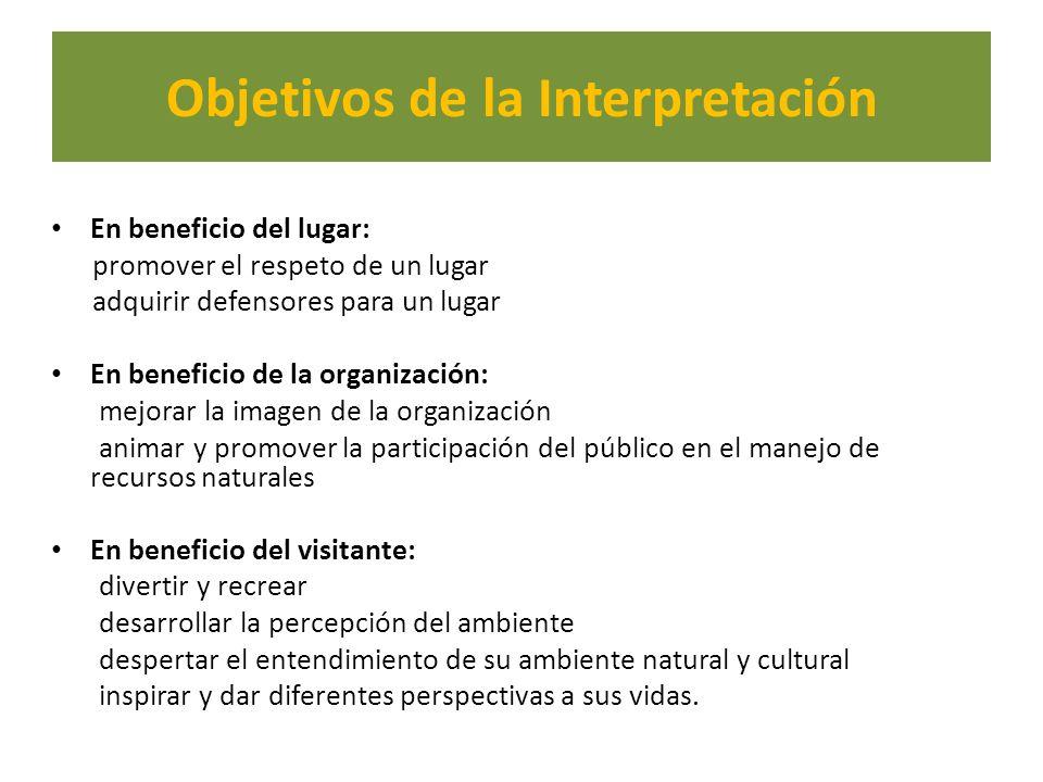 Objetivos de la Interpretación