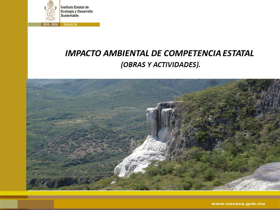 IMPACTO AMBIENTAL DE COMPETENCIA ESTATAL