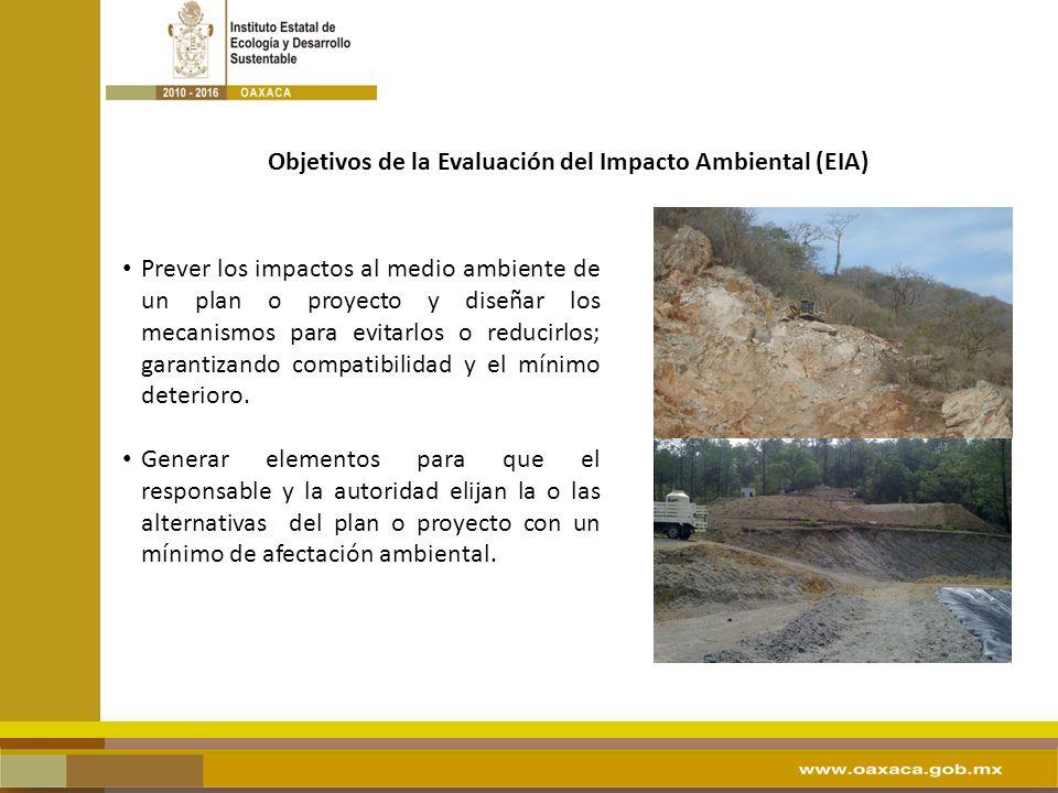 Objetivos de la Evaluación del Impacto Ambiental (EIA)