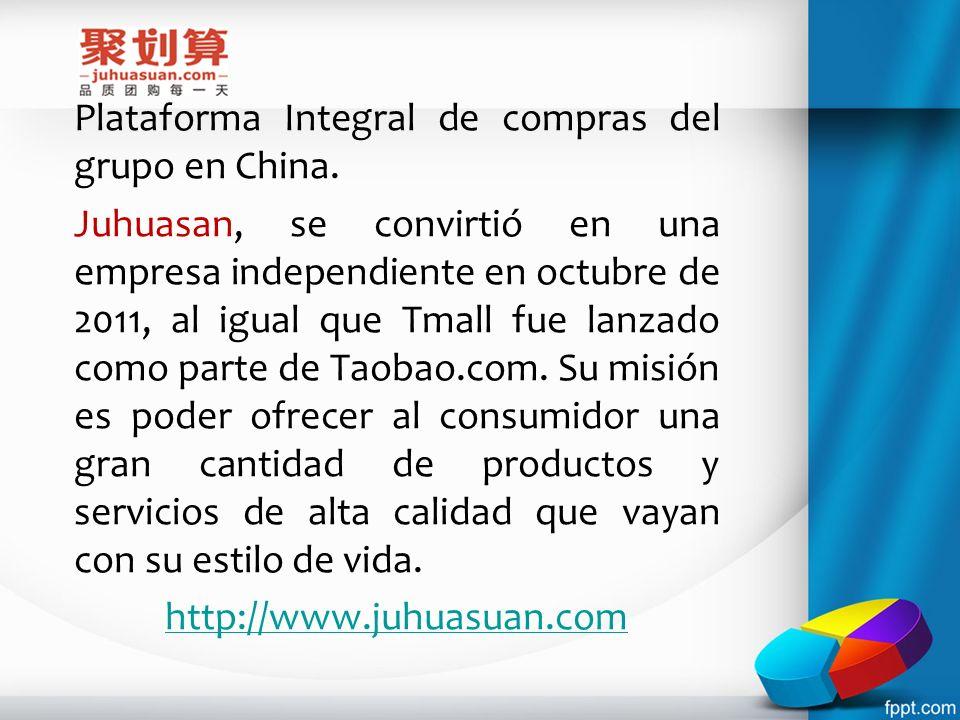 Plataforma Integral de compras del grupo en China.