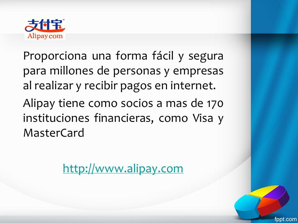 Proporciona una forma fácil y segura para millones de personas y empresas al realizar y recibir pagos en internet.