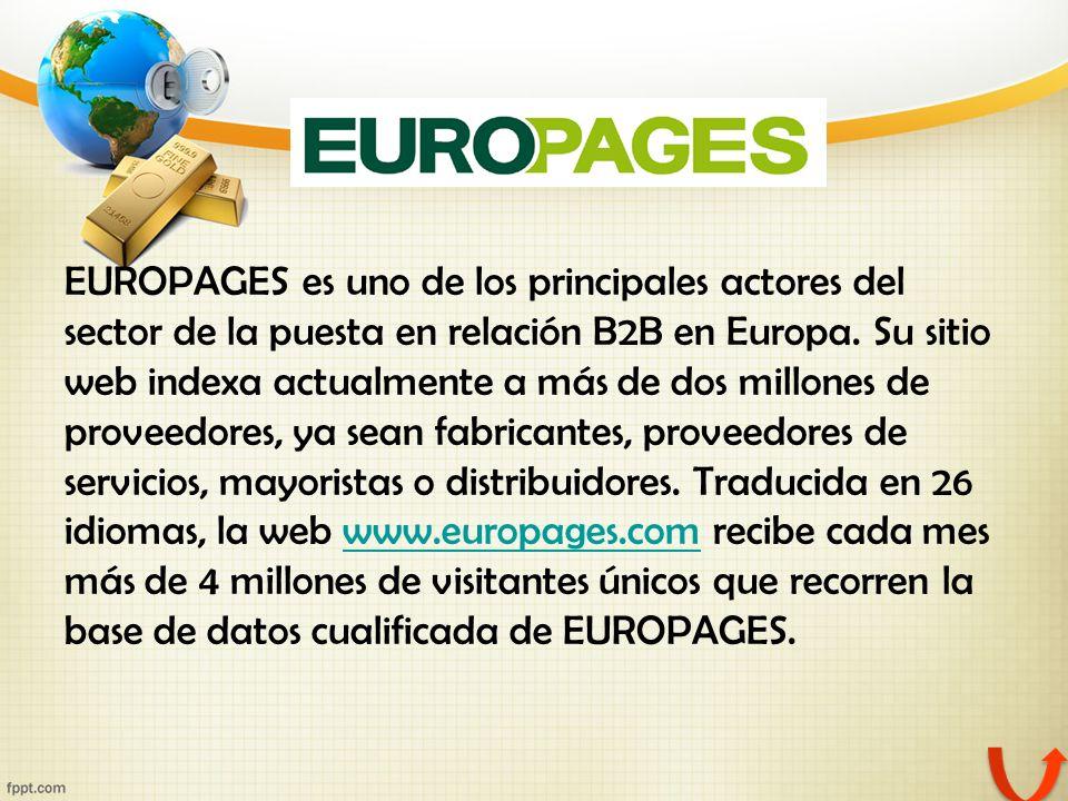 EUROPAGES es uno de los principales actores del sector de la puesta en relación B2B en Europa.