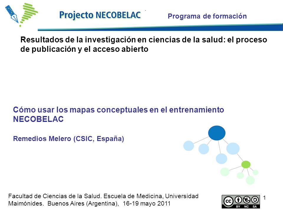 Cómo usar los mapas conceptuales en el entrenamiento NECOBELAC