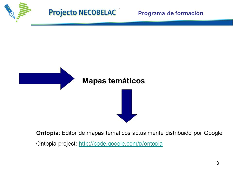 Mapas temáticos Programa de formación