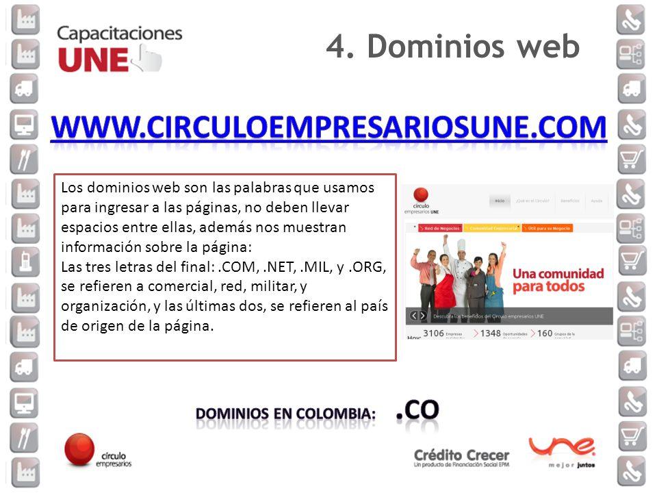 www.circuloempresariosune.com 4. Dominios web