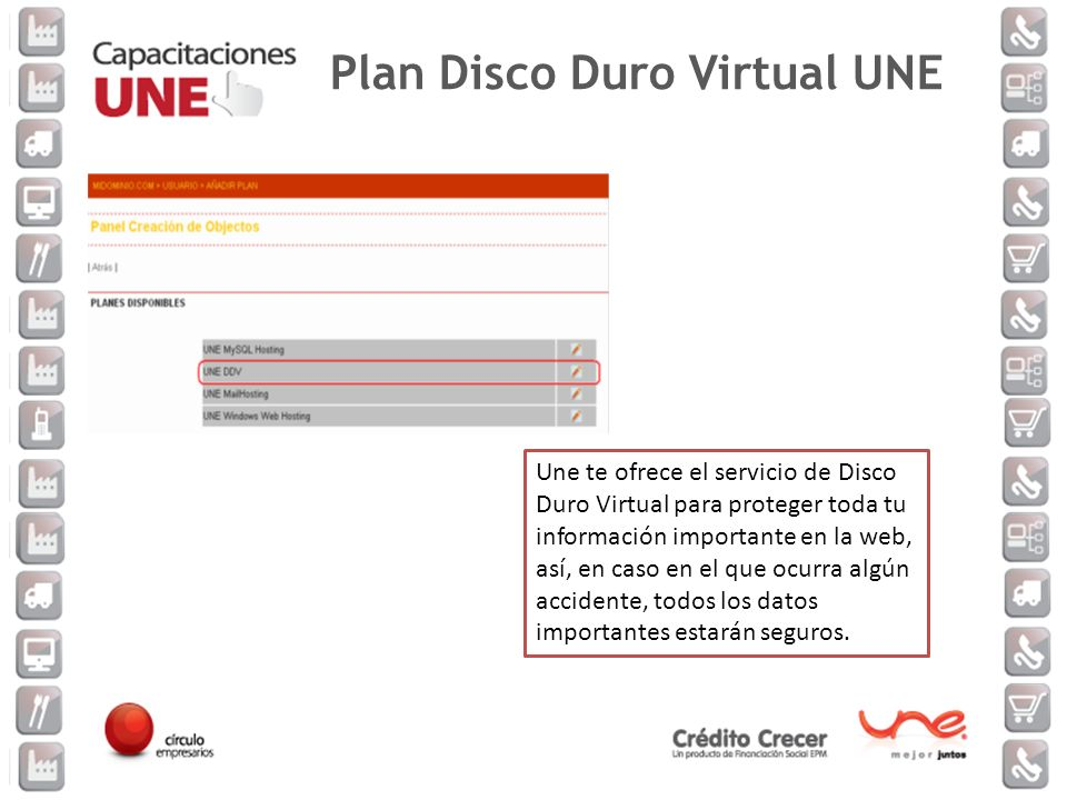 Plan Disco Duro Virtual UNE