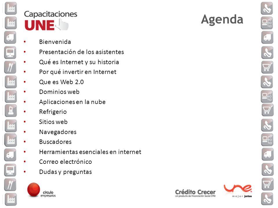 Agenda Bienvenida Presentación de los asistentes